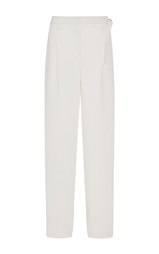 Medium tome white tailored soft waist cotton pants