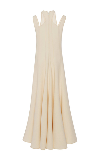 Pale Pink Satin Godet Maxi Dress  by TOME Now Available on Moda Operandi