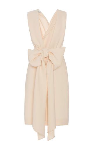 Medium tome light pink deep v neck bow dress