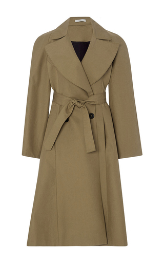 Medium tome khaki embroidered tailored coat