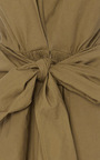 Deep V Neck Draped Bow Front Dress by TOME Now Available on Moda Operandi