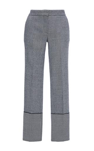 Medium derek lam plaid checked wool wide cuff trousers