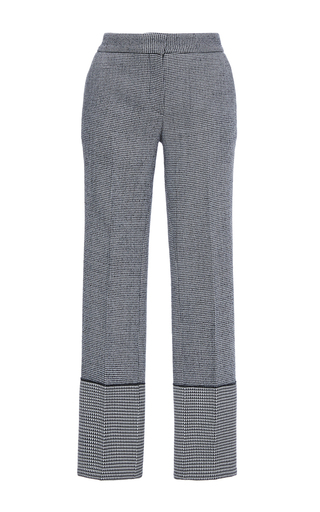 Medium derek lam plaid checked wool wide cuff trousers