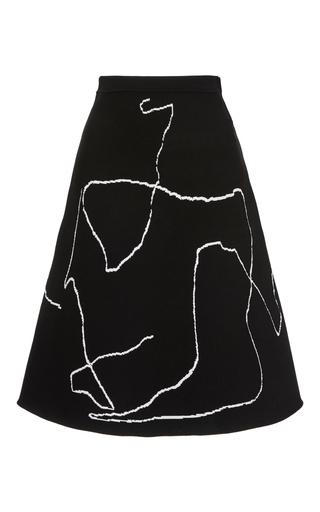 Medium derek lam black calder line art a line skirt