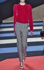 Velvet Long Sleeve Blouse by DEREK LAM Now Available on Moda Operandi