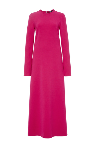 Double Face Stretch Crepe Column Dress by DEREK LAM Now Available on Moda Operandi