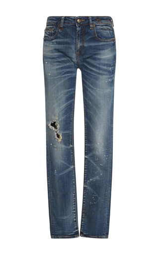 Medium r13 denim medium wash kate mid rise skinny jeans