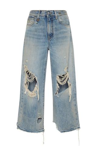 Medium r13 denim light wash camille leyton cropped jeans