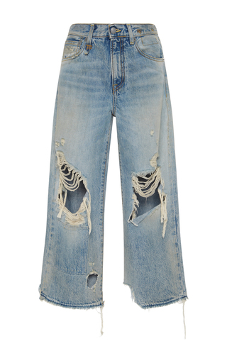 Medium r13 denim light wash camille leyton cropped jeans