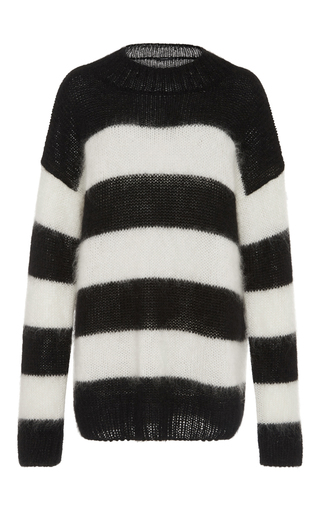 Medium r13 denim stripe nancy oversized sweater