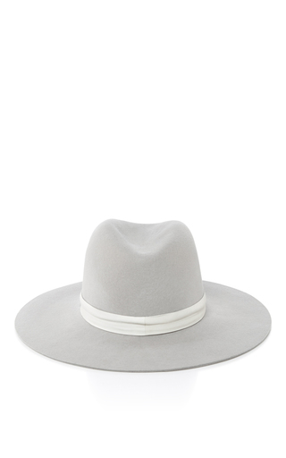 Medium janessa leone light grey henningsen fedora hat
