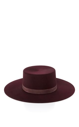 Medium janessa leone burgundy laurena bolero hat