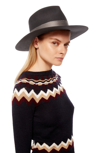 Cherina Fedora Hat by JANESSA LEONE Now Available on Moda Operandi