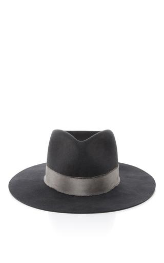 Medium janessa leone dark grey cherina fedora hat