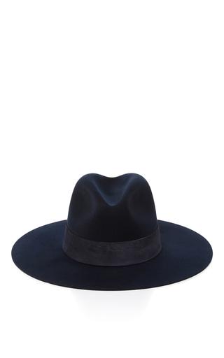 Medium janessa leone black ila fedora hat