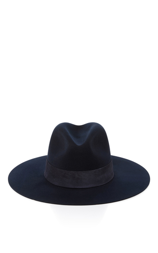 Medium janessa leone black ila fedora hat