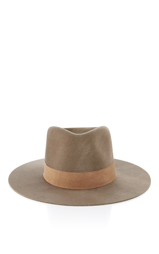 Medium janessa leone tan alara fedora hat