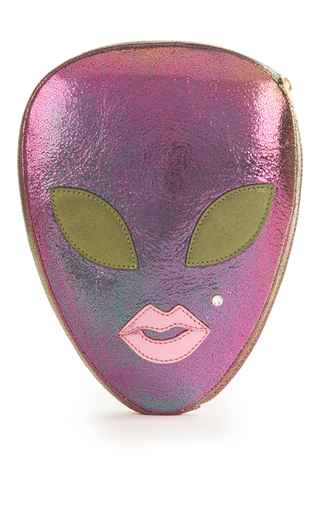 Medium charlotte olympia purple alienora clutch