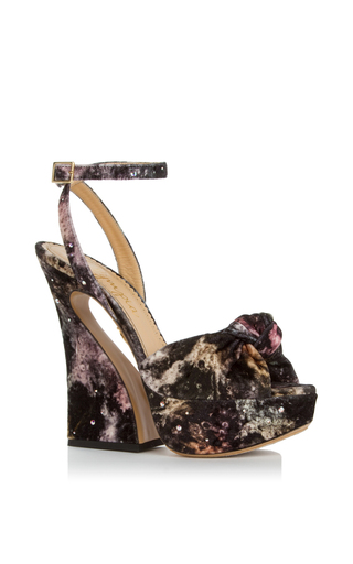 Medium charlotte olympia print galaxy print vreeland platform sandal
