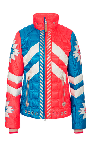 Medium bogner print elia d bicolor ski jacket