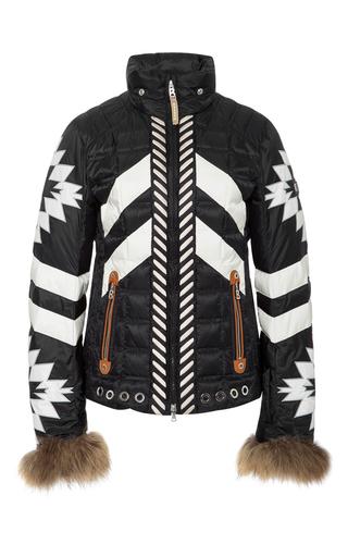 Medium bogner black white elia d ski jacket
