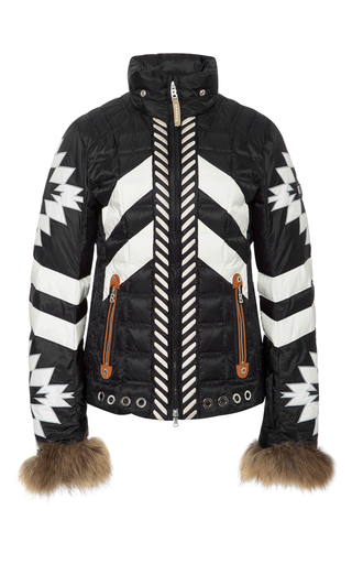 Medium bogner black white elia d ski jacket