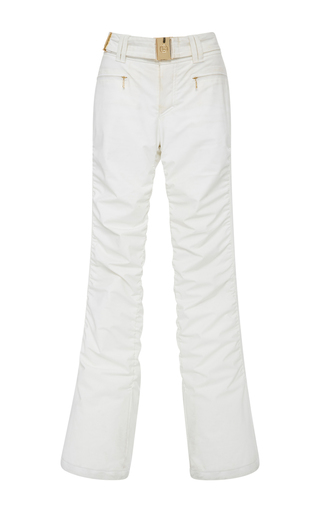 Medium bogner white luna ruched ski pants