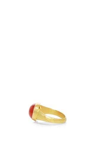 Universal Carnelian Ring by SANJAY KASLIWAL Now Available on Moda Operandi