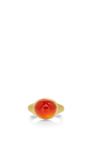 Medium sanjay kasliwal orange universal carnelian ring