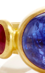 Universal Tanzanite And Ruby Ring  by SANJAY KASLIWAL Now Available on Moda Operandi