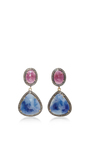 Indorussian Sapphire And Ruby Earrings by SANJAY KASLIWAL Now Available on Moda Operandi