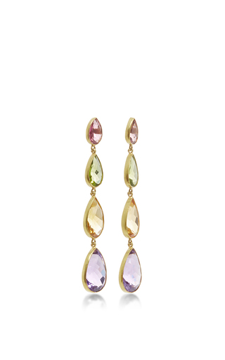 Multicolored Drop Earrings by SANJAY KASLIWAL Now Available on Moda Operandi