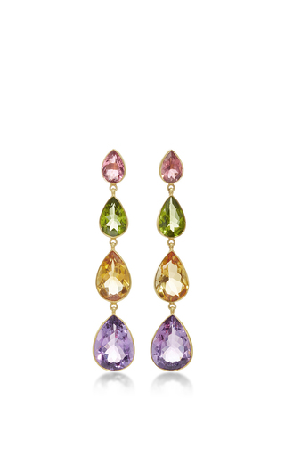 Medium sanjay kasliwal multi multicolored drop earrings