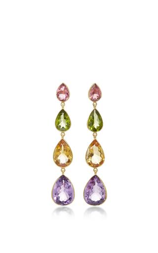 Medium sanjay kasliwal multi multicolored drop earrings
