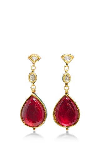 Raj Polki Earrings by SANJAY KASLIWAL Now Available on Moda Operandi