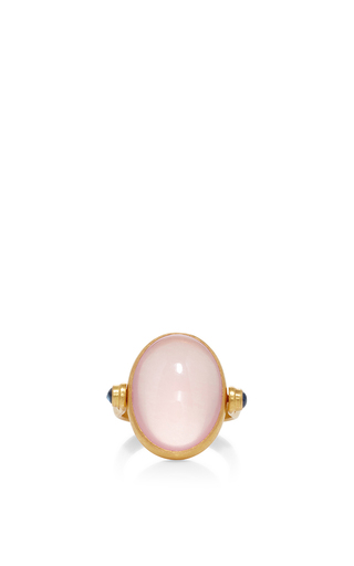 Medium sanjay kasliwal light pink rose quartz ring