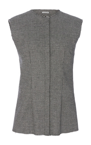 Medium sophie theallet light grey imaan cashmere sleeveless shirt