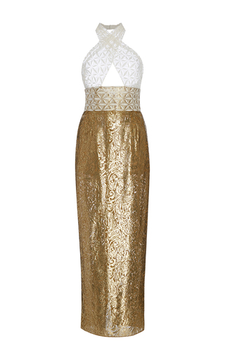 Medium sophie theallet multi bruna cutout lace dress
