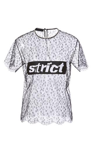 Medium alexander wang black lace t shirt