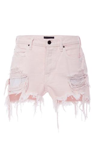 Medium alexander wang light pink distressed cut off shorts