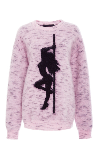 Medium alexander wang light pink oversized jacquard sweatshirt