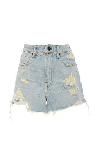 Medium alexander wang light blue high waist distressed cut off shorts
