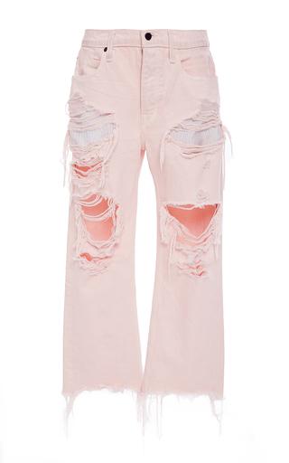 Medium alexander wang light pink distressed cropped jean