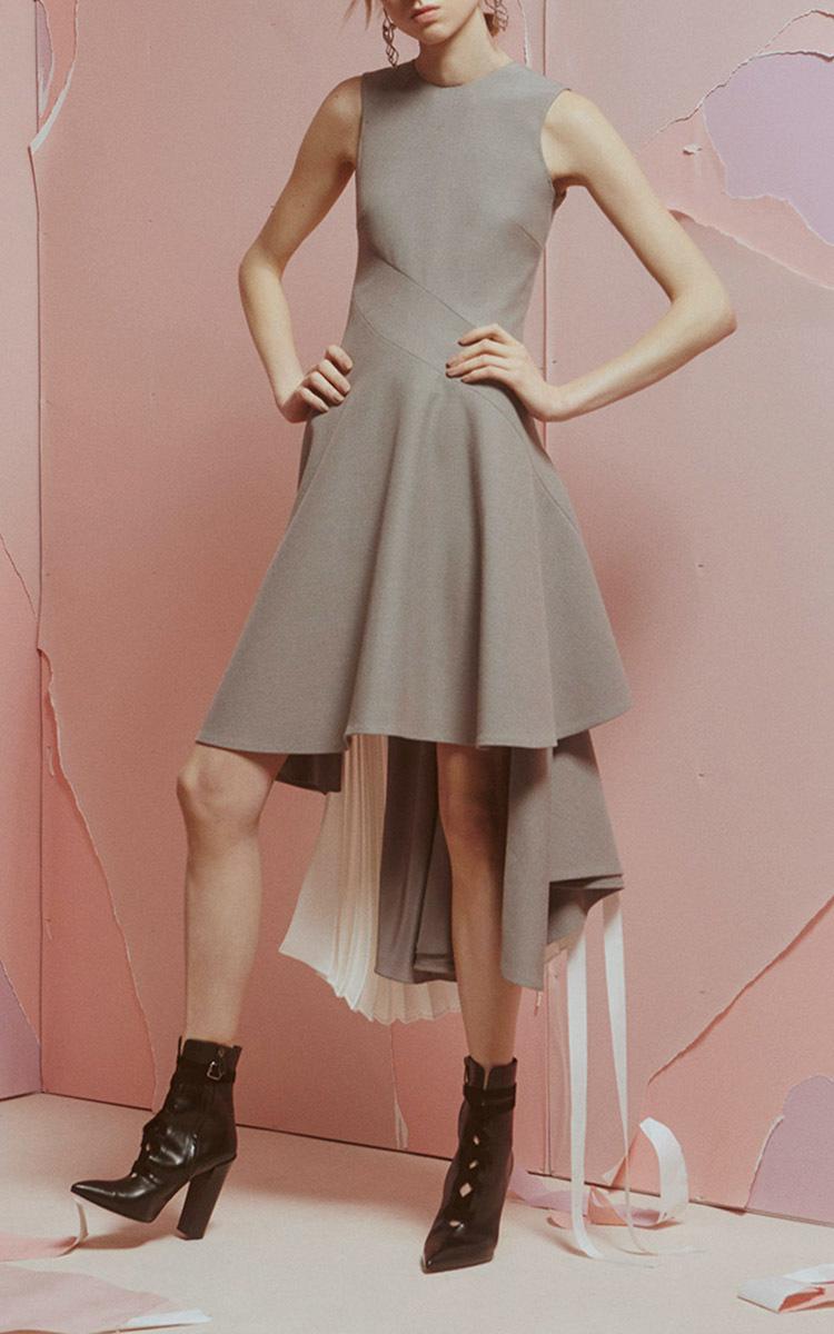 stretch suiting cascade bustle dress by adeam moda operandi