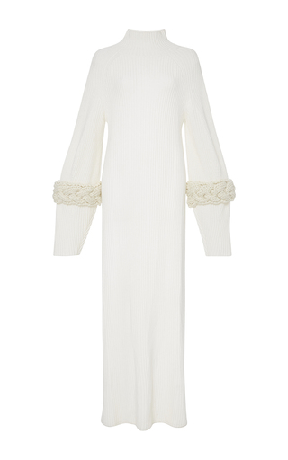 Medium adeam white white ribbed cashmere turtleneck asymmetrical pullover