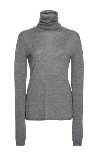 Medium adeam dark grey grey cashmere silk turtleneck sweater