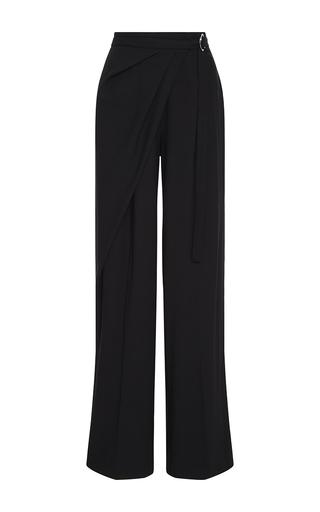 Medium adeam black black twill basketweave trousers