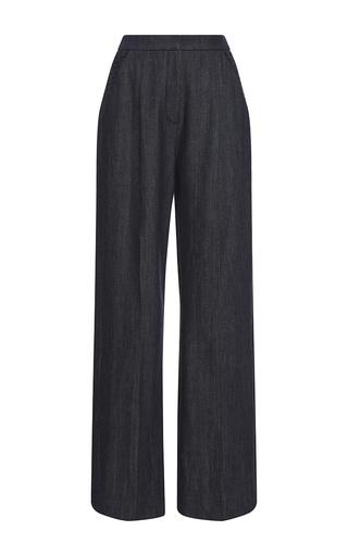 Medium adeam navy denim basketweave trousers