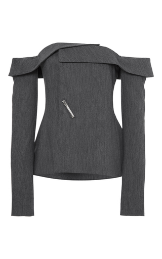 Medium adeam dark grey grey twill deconstructed blazer