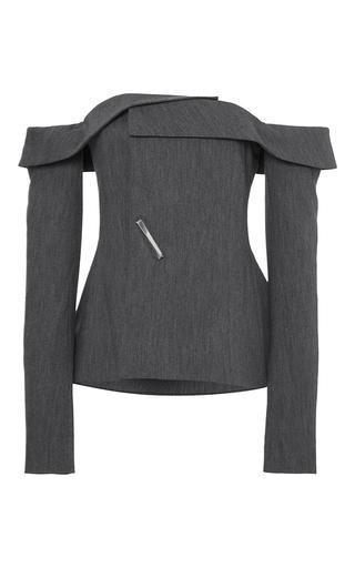 Medium adeam dark grey grey twill deconstructed blazer